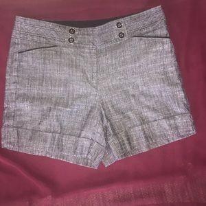 WHBM shorts. Linen Blend. Size 6